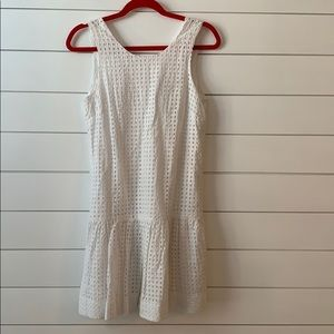 J crew white eyelet shift dress